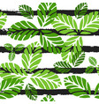 tropical seamless pattern with green leaves vector image