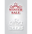 Two winter sale stickers with snowflakes vector image
