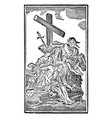 vintage antique religious allegorical biblical vector image vector image