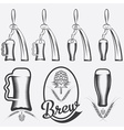 vintage collection of beer and beer dispensers vector image vector image