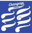 Vintage swash baseball logo tails set vector image vector image