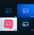 wallet with cash money line icon vector image vector image