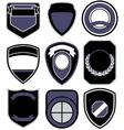 badge shape icon set vector image