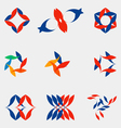 A set of nine logos vector image