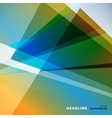 Abstract bright color on a light background vector image