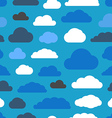 Abstract clouds seamless pattern vector image vector image