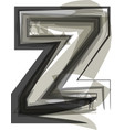 abstract letter z vector image vector image