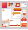 Art creative drawing corporate identity style set vector image