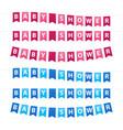 baby shower garlands set vector image