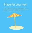 beach umbrella with shadow with space for text vector image