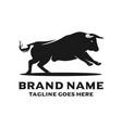 bull head logo design vector image