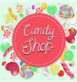 candy shop emblem multicolor emblem graphics vector image vector image