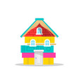 children book house concept for school reading vector image