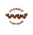 chocolate slogan heart shaped chocolate vector image vector image