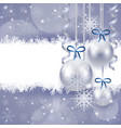 christmas background with copy space in silver vector image