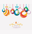 christmas balls background in vibrant style vector image