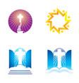 church religion and faith set vector image