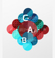 circle banner vector image vector image