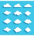 clouds sky heaven icon symbol label logo sign vector image