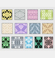 collection decorative patterns vector image vector image