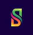 creative letter s logo design vector image vector image