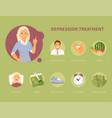 depression treatment vector image