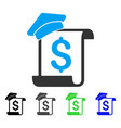 education invoice flat icon vector image vector image