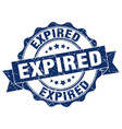 expired stamp sign seal vector image vector image