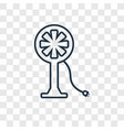 fan concept linear icon isolated on transparent vector image vector image