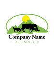 farm business logo vector image