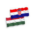 flags croatia and hungary on a white background vector image