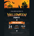 halloween invitation party poster template use vector image vector image
