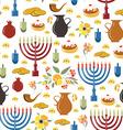 Happy Hanukkah objects background vector image