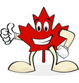 Happy maple leaf vector image vector image