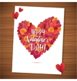 Happy Valentine s Day red lettering background vector image