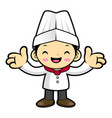 head cook character welcome isolated on white vector image vector image