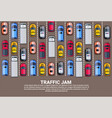 highway traffic jam top above view with road full vector image vector image