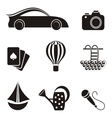 Hobby and leisure icons vector image vector image