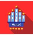 hotel 5 stars icon flat style