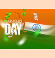 india independence day greeting card with flag vector image