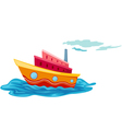 isolated yacht vector image vector image