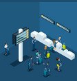 isometric infographic concept airport vector image