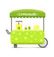 lemonade street food cart colorful image vector image