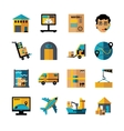 Logistics Color Icons Set vector image