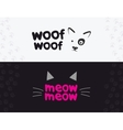 logo emblem label design elements for pet vector image vector image