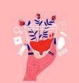 menstrual cap flowers composition vector image
