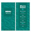 menu design for fast food restaurant cafe vector image