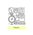 Modern thin line icons of physics vector image vector image