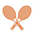 monocromatic rackets design vector image vector image
