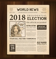 newspaper page realistic vintage vector image